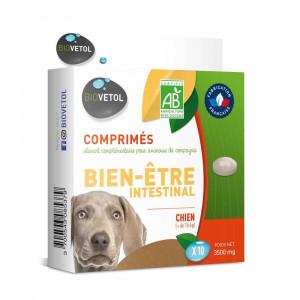 Comprimés Bien-être intestinal Bio Moyen et Grand Chien x 10 Biovetol