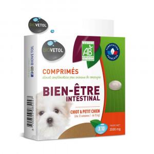 Comprimés bien-être intestinal Bio Chiot et Petit Chien x 10 Biovetol