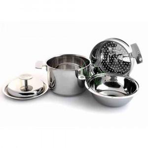 Ensemble marmite et accessoires Baumstal 4 pièces Inox 18/10