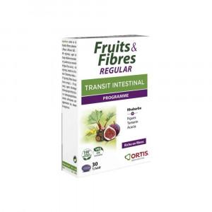 Fruits et Fibres Régular 30 comprimés transit Ortis