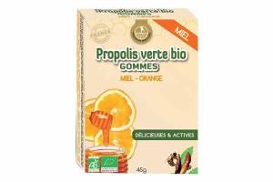Gommes de Propolis Bio Miel, Orange