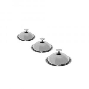 Série Couvercles cloches Baumstal 3 pièces Inox 18/10