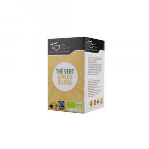 Thé vert  Bio au ginkgo biloba 24 sachets 43gr Touch Organic