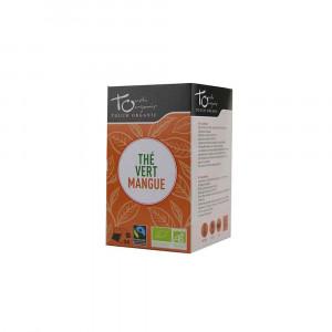 Thé vert  Bio à la mangue 24 sachets 43gr Touch Organic