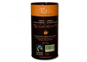 Thé vert abricot - aubépine Bio vrac 50gr Touch Organic