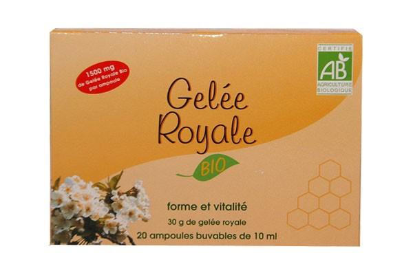 Image gelée royale  BIO ampoules nutrition