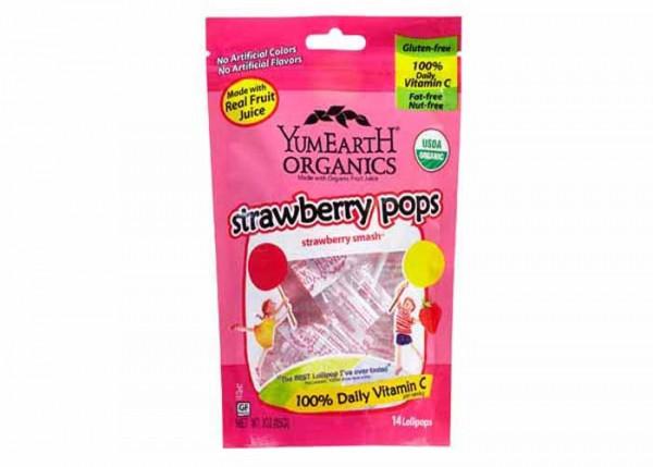 sucettes-vegan-bio-pops-fraise-yumearth