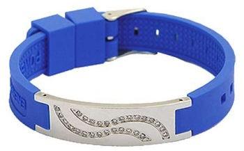 bracelet magnétique silicone et strass